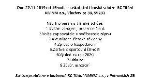 Pozvánka na členskou schůze RC Titáni NMNM z.s.